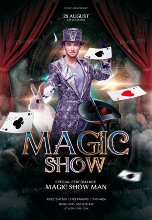 Magic Show V16 2019 PSD Flyer Template