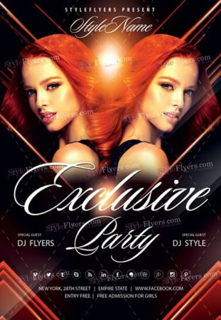 Exclusive Party V2509 2019 Flyer PSD Template